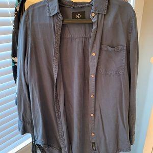 Tentree Fernie blue long sleeve button up shirt
